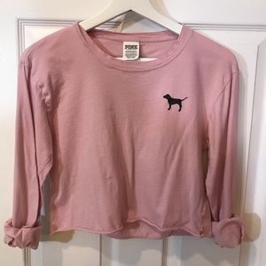 VS PINK Cropped Long Sleeve Tee